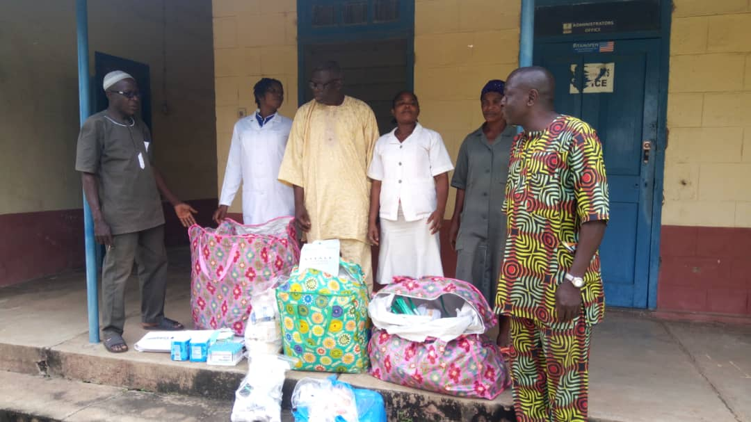 Donation of medical supplies and drugs to Inisa health center